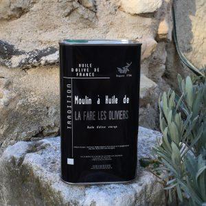Bidon métal d'huile d'olive vierge tradition de 1L