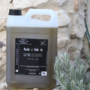 Bidon d'huile d'olive vierge tradition de 5 litres