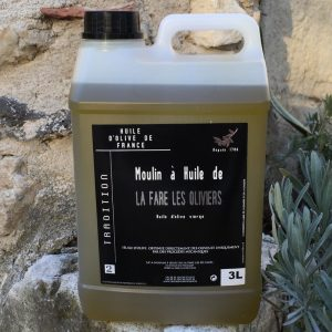 Bidon d'huile d'olive vierge tradition de 3 litres