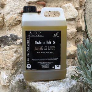 Bidon d'huile d'olive AOP de 3 litres