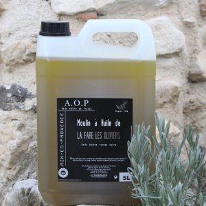 Bidon d'huile d'olive vierge AOP de 5 litres