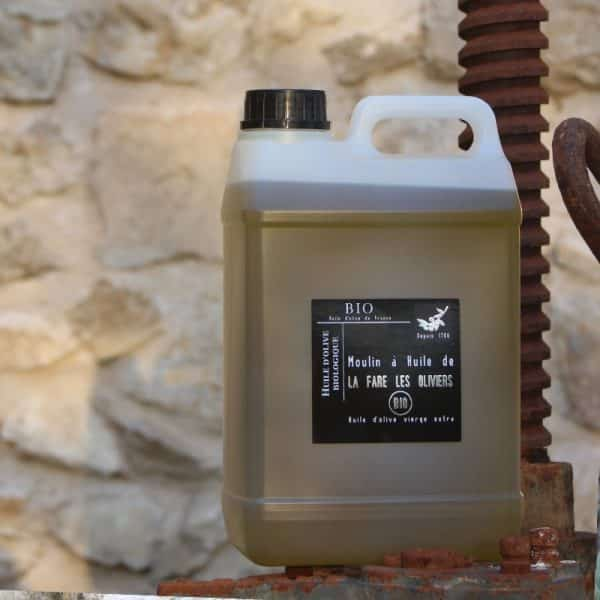 Bidon d'huile d'olive vierge Bio de 3 litres
