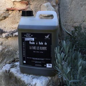 Bidon d'huile d'olive vierge maturée de 3 litres