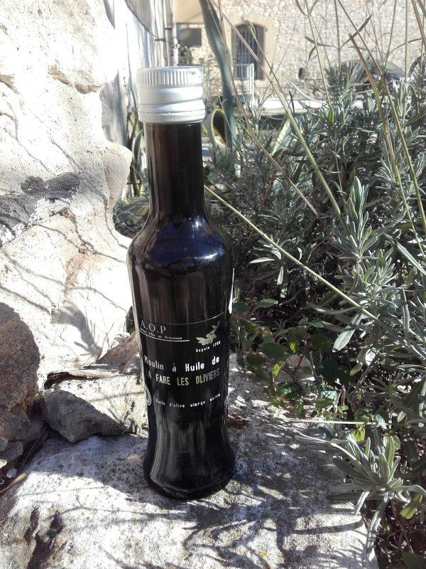 Bouteille d'huile d'olive vierge AOP de 25 cl