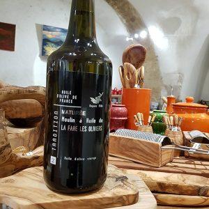 Bouteille d'huile d'olive vierge maturée de 75 cl
